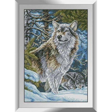 31102 Волки в горах Набор алмазной живописи, фото 2