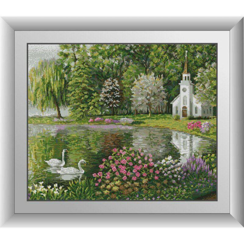 31124 Весенний пруд Набор алмазной живописи