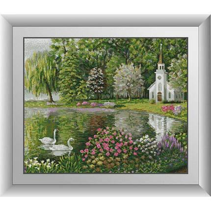 31124 Весенний пруд Набор алмазной живописи, фото 2