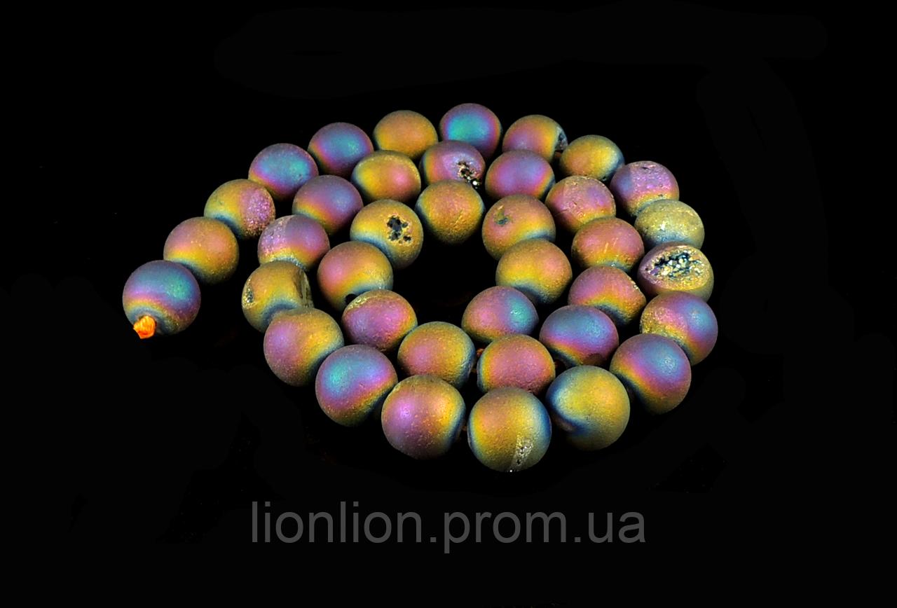 Заготовка из  матового агата,10мм бензинового цвет