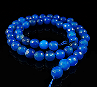 Заготовка из  синего агата,8мм грань