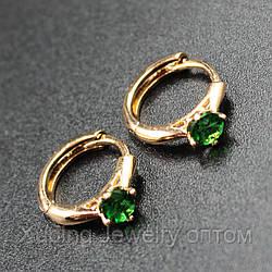 Xuping серьги-кольца позолота xpge2-95