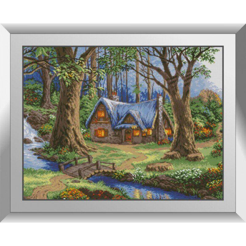 31132 Лесной дом Набор алмазной живописи