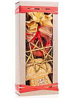Подарочный новогодний набор малый золотой. Домик