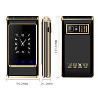 Мобильный телефон раскладушка Dsfen V1 6800mAh двухсимочная раскладушка Vertu Gucci A15