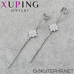 Серьги Xuping медицинское золото Silver - 1033898630