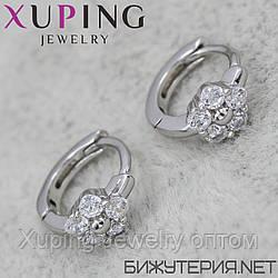 Серьги Xuping медицинское золото Silver - 1029264309