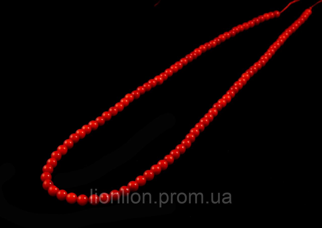 Заготовка из красного  коралла ,4мм
