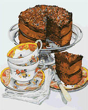 AS0308 Раскраска по номерам Шоколадный тортик, В картонной коробке