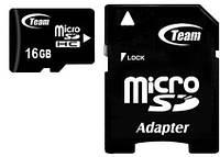 Карта памяти MicroSDHC 16GB Class 10 Team + SD-adapter (TUSDH16GCL1003)