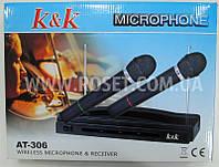 Микрофон динамический с базой - K&K AT-306 (2 микрофона), фото 1