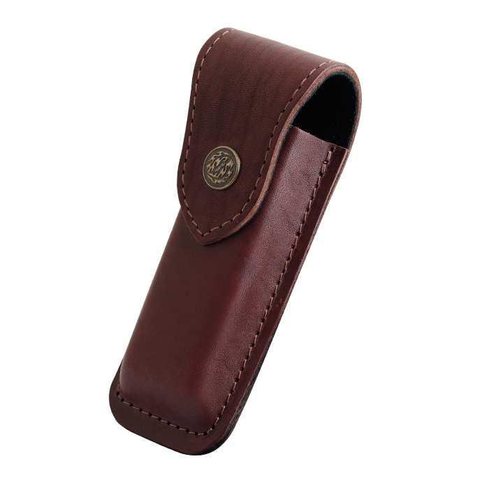 Чехол-XL для складного ножа B на кнопке (коричневый, кожа, 140 х 60 х 40 мм)