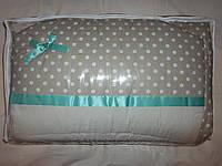 """Детское постельное белье в кроватку+Конверт на выписку (8 ед.)-""""Горохи"""", фото 1"""