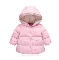 Демисезонная курточка для девочки розовая 3547