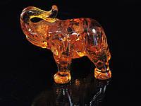 Статуэтка слоник большой, янтарный, фото 1