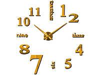 Часы наклейки 3D Diy  Золотой