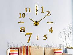Годинник наклейки 3D Diy Золотий