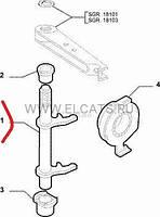 Вилка сцепления 1.2-1.4-1.6-1.9D Doblo 46814723