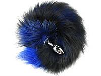 Анальный хвост Fox 40 см х 7 см Синий