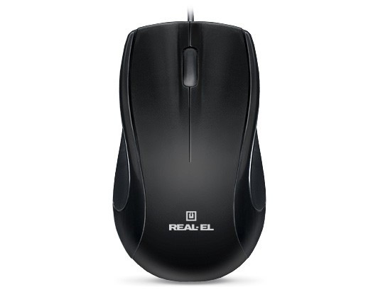 Мышь REAL-EL RM-250 Black USB+PS/2