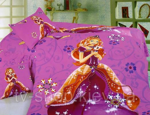 Комплект постели белья  Барби с собачкой (сатин)