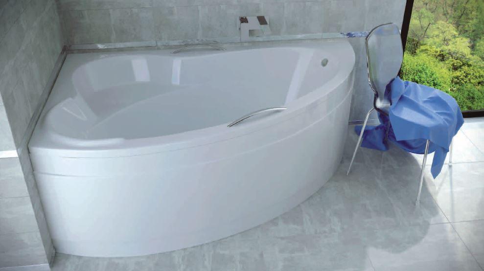 Ванна ADA 160х100 левая Besco PMD Piramida акриловая асимметричная