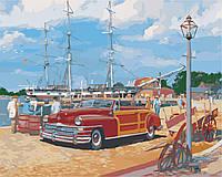 AS0365 Набор живописи по номерам Портовый городок, В картонной коробке