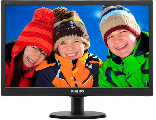 "Монитор Philips 18.5"" 193V5LSB2/62 Black; 1366 x 768, 200 кд/м2, 5 мс, D-Sub"