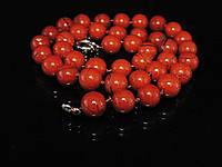Бусы из красной  яшмы, шар 10мм, фото 1