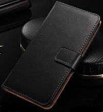 Кожаный чехол-книжка для  Huawei Honor 6 черный