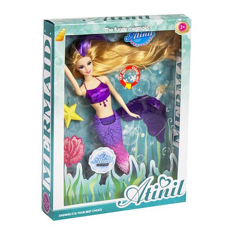 "Кукла ""Русалочка"", со светом (фиолетовый хвост) WX70-1, фото 2"
