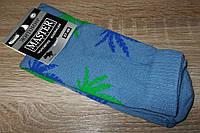 Носки мужские высокие Конопля размер 27-29 (наш 42-45) голубые