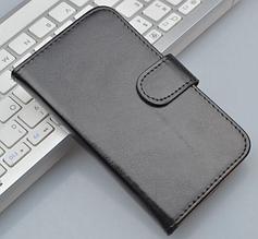 Кожаный чехол-книжка для Sony Xperia ZL L35h C6502 C6503 C6506 черный