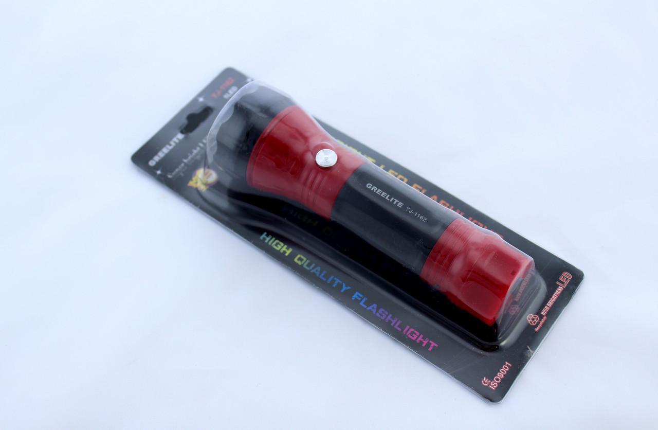Фонарик YJ-1162 / аккумуляторный / светодиодный / с выдвижной вилкой для зарядки