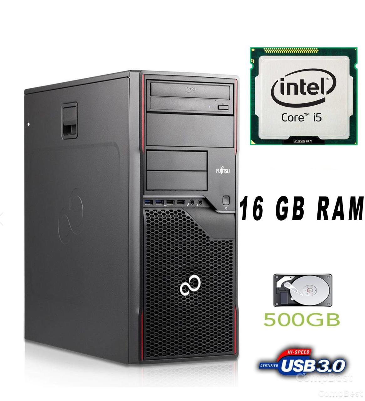 Fujitsu Celsius W420 MT / Intel Core i5-3470 (4 ядра по 3.2-3.6 GHz) / 16 GB DDR3 / 500HDD