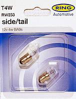 Автомобильная лампа А12-4. (T4W) BA9s