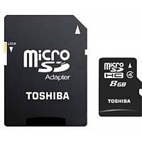 Карта памяти micro SD Toshiba 8 Gb 4 class