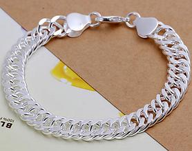Серебрянный браслет Флоренция 925 проба (покрытие)