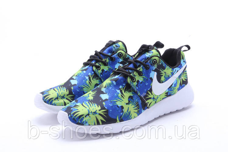 Женские кроссовки Nike Roshe Run (Florar blue)