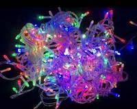 Гирлянда новогодняя Нить 200 LED мультик, прозрачный провод 15 м
