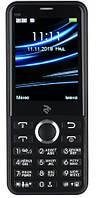 "Мобильный телефон 2E E280 2018 Dual Sim Black (708744071170); 2.8"" (320х240) TN / клавиатурный моноблок / 32 МБ встроенной + microSD до 16 ГБ / камера"