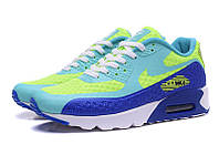 Nike Air Max 90 (Blue/Lime), фото 1