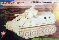 "JH 6016 Конструктор деревянный ""Легкий танк"" 6 — пластин"