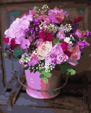BK-GX31918 Картина-раскраска по номерам Цветы из летнего сада, Без коробки, фото 2