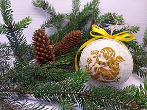 SN-12 Набор для творчества. Новогодняя игрушка-шар на елку, фото 3