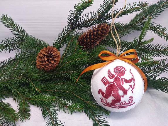 SN-16 Набор для творчества. Новогодняя игрушка-шар на елку, фото 2