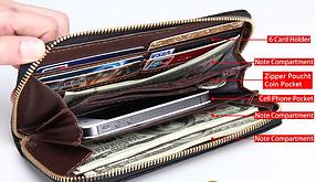 Женский  кошелек  клатч красный, фото 3
