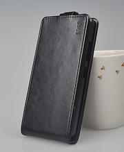 Кожаный чехол флип для Lenovo A5000 черный