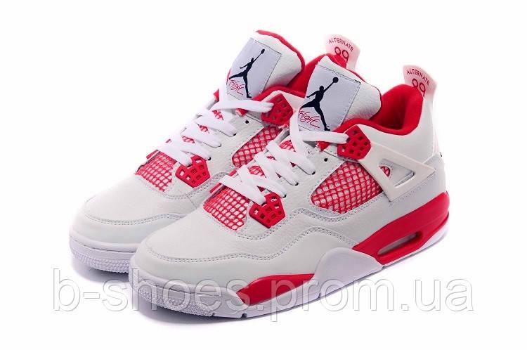Мужские баскетбольные кроссовки Air Jordan Retro 4 (White/Red)