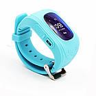 "Детские смарт-часы GoGPS ME К50 Бирюзовый (К50БЗ); 0.96"" (128x32) LCD / MediaTek MTK6261 / GPS, A-GPS, LBS / 54 х 34 х 12.5 мм, 35 г / 400 мАч /, фото 3"